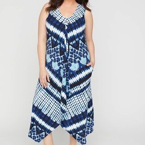 Catherine's Tie-dye A-Line Dress With Pockets, 3X
